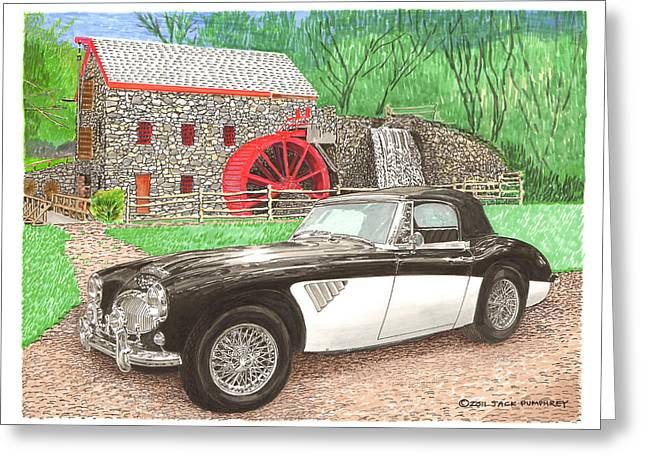 Sudbury Greeting Cards - 1963 Austin and Sudbury Mill Greeting Card by Jack Pumphrey