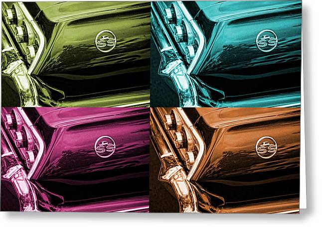 Magneta Greeting Cards - 1963 Chevrolet Impala SS Offset Colors Greeting Card by Gordon Dean II