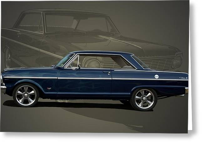 Teemack Greeting Cards - 1963 Chevy II Nova Greeting Card by Tim McCullough