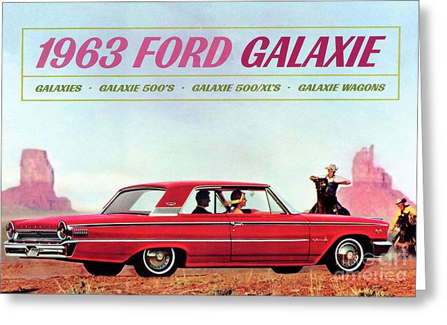 1963 Ford Greeting Cards - 1963 Ford Galaxie Greeting Card by R Muirhead Art