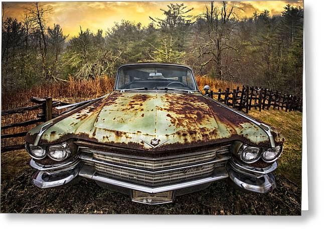 Caddy Greeting Cards - 1964 Cadillac Greeting Card by Debra and Dave Vanderlaan