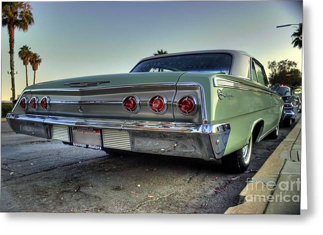1964 Chevy Impala Greeting Card by Frank Garciarubio