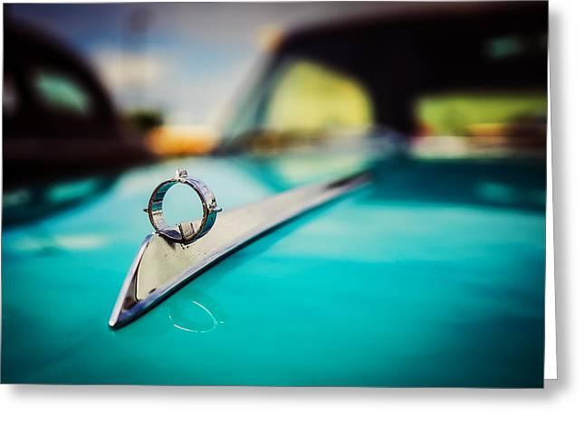 American Automobiles Greeting Cards - 1964 Ford Galaxie 500 XL Hood Ornament Greeting Card by Jon Woodhams