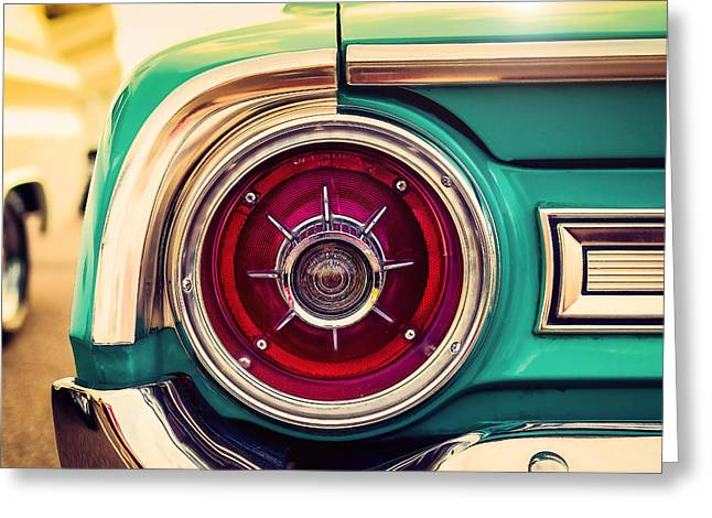 American Automobiles Greeting Cards - 1964 Ford Galaxie 500 XL Tail Light Greeting Card by Jon Woodhams