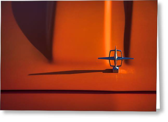 Strong Photographs Greeting Cards - 1964 Lincoln Continental Hood Ornament Greeting Card by Carol Leigh