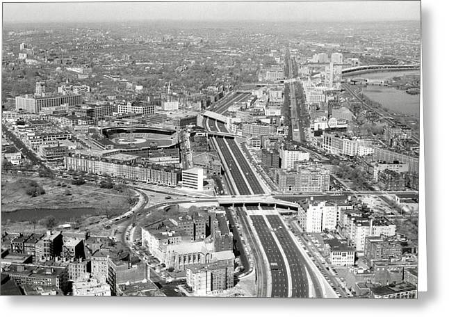 1965 Aerial View Of Boston No.2 Greeting Card by Historic Image