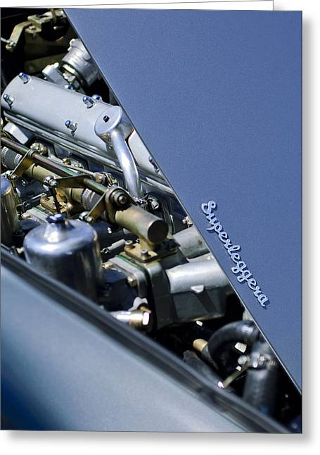 1965 Greeting Cards - 1965 Aston Martin DB5 Coupe RHD Engine Greeting Card by Jill Reger