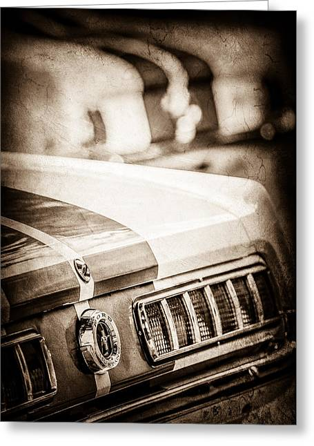 1965 Ford Shelby Mustang Gt 350 Tail Light -1037s Greeting Card by Jill Reger