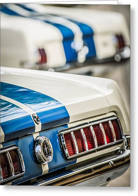 Mustang Gt350 Greeting Cards - 1965 Ford Shelby Mustang GT 350 Taillight -1037c Greeting Card by Jill Reger