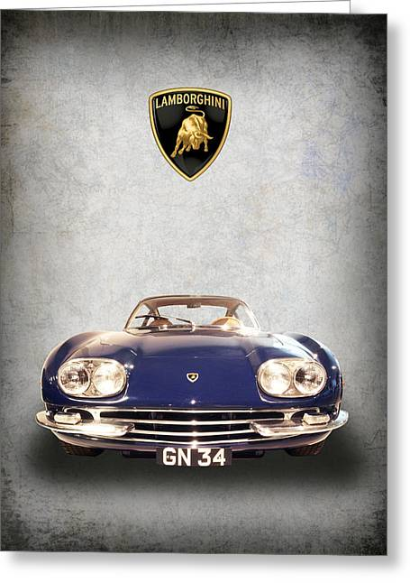 1965 Lamborghini Greeting Card by Daniel Hagerman