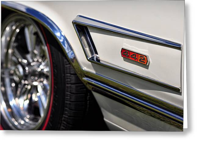 Original Photographs Greeting Cards - 1965 Olds 4-4-2 Greeting Card by Gordon Dean II