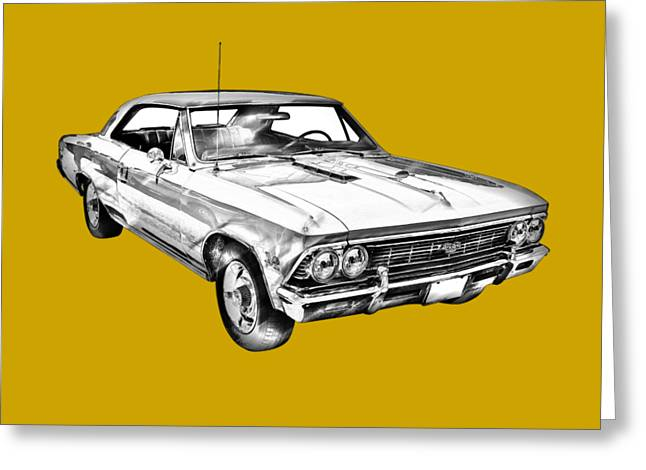 Polish American Art Greeting Cards - 1966 Chevy Chevelle SS 396 Illustration Greeting Card by Keith Webber Jr