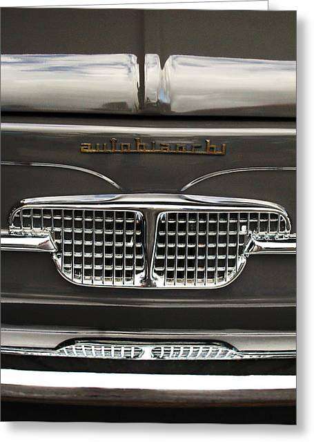 Car Part Greeting Cards - 1967 Autobianchini Special Italy Grille Greeting Card by Jill Reger