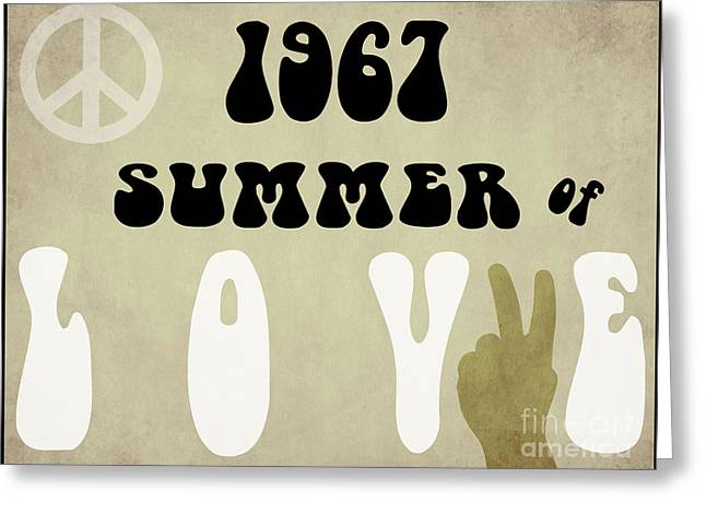 1967 Summer Of Love Newspaper Greeting Card by Mindy Sommers