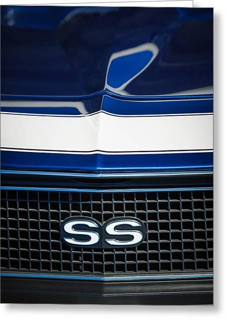 1968 Camaro Greeting Cards - 1968 Chevrolet Yenko Super Camaro SS Grille Emblem -1745c Greeting Card by Jill Reger