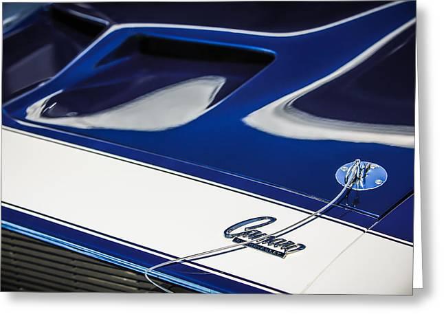 1968 Camaro Greeting Cards - 1968 Chevrolet Yenko Super Camaro SS Hood Emblem -1767c Greeting Card by Jill Reger