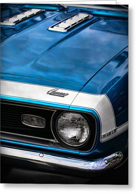 Drag-race Greeting Cards - 1968 Chevy Camaro SS 396 Greeting Card by Gordon Dean II