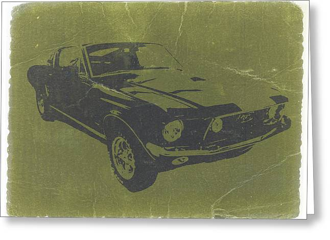 Muscles Greeting Cards - 1968 Ford Mustang Greeting Card by Naxart Studio