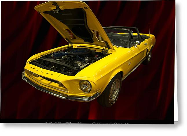 1960s Poster Art Greeting Cards - 1968 Shelby GT 500KR Greeting Card by Chris Flees