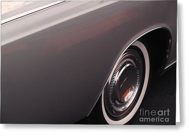 Lincoln Photographs Greeting Cards - 1968 Vintage Lincoln Sedan Fender Greeting Card by Anna Lisa Yoder