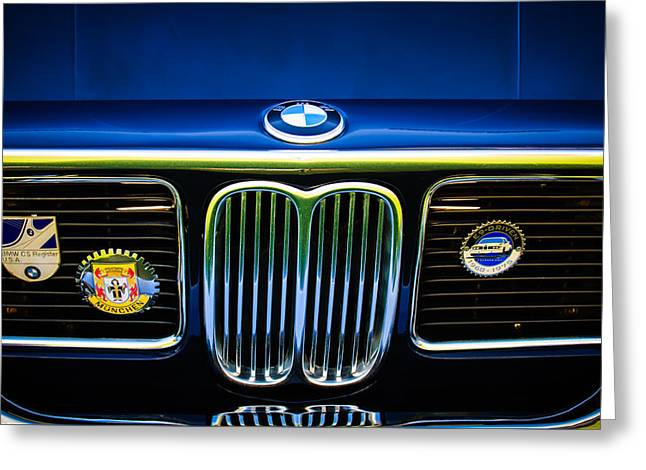 Cs Greeting Cards - 1969 BMW 2800 CS E-9 Searies Grille -0342c Greeting Card by Jill Reger