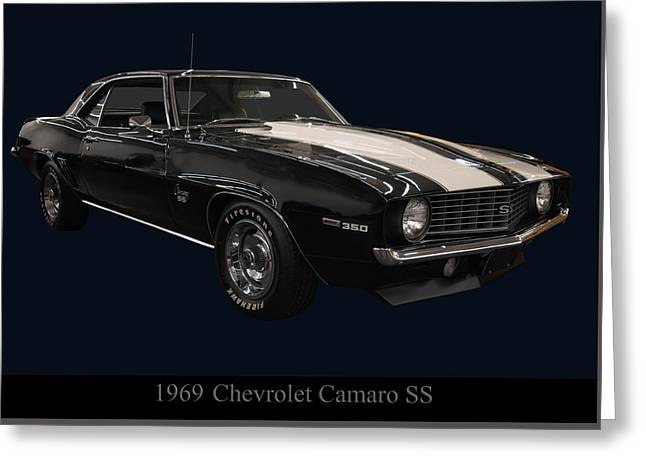 1960s Poster Art Greeting Cards - 1969 Chevy Camaro SS Greeting Card by Chris Flees