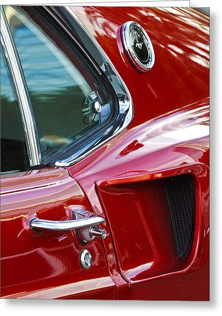 Muscles Greeting Cards - 1969 Ford Mustang Mach 1 Side Scoop Greeting Card by Jill Reger