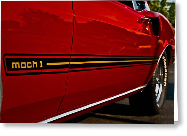 Mach I Greeting Card featuring the photograph 1969 Mustang Mach I by  Onyonet  Photo Studios
