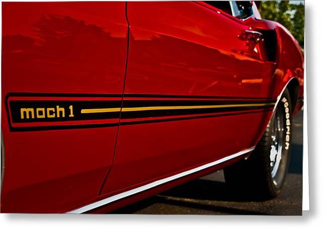 Mach I Greeting Cards - 1969 Mustang Mach I Greeting Card by  Onyonet  Photo Studios