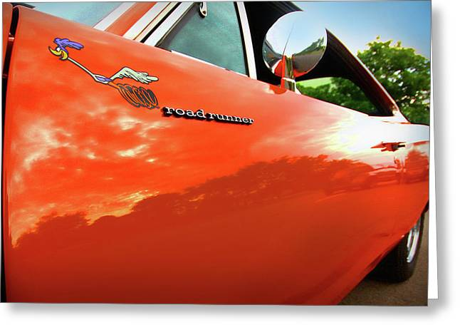 Gratiot Digital Greeting Cards - 1969 Plymouth Road Runner 440 Roadrunner Greeting Card by Gordon Dean II