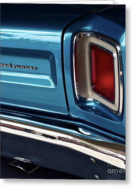 Recently Sold -  - Runner Greeting Cards - 1969 Plymouth Road Runner Greeting Card by Gwyn Newcombe