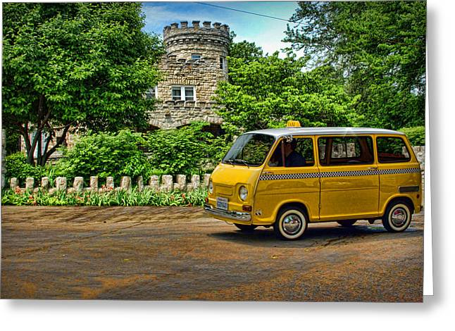 Teemack Greeting Cards - 1969 Subaru Model 360 Taxi Greeting Card by Tim McCullough