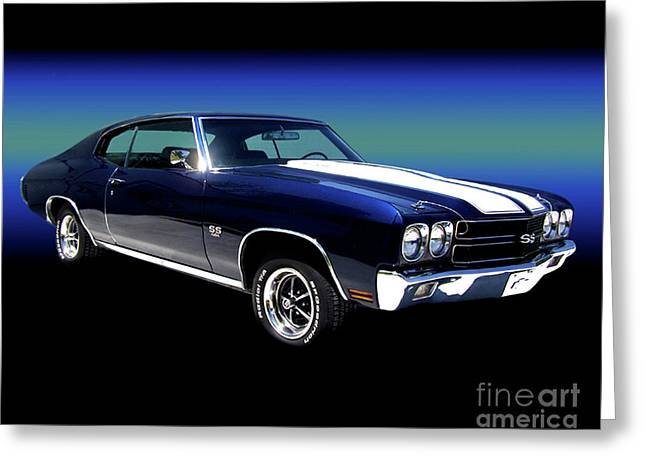 1970 Chevelle Ss Greeting Card by Peter Piatt