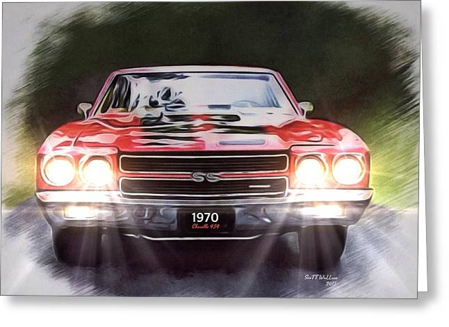 Division Greeting Cards - 1970 Chevrolet Chevelle SS454 Greeting Card by Scott Wallace