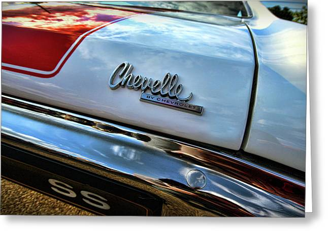 Dragway Greeting Cards - 1970 Chevy Chevelle SS 396 SS396 Greeting Card by Gordon Dean II