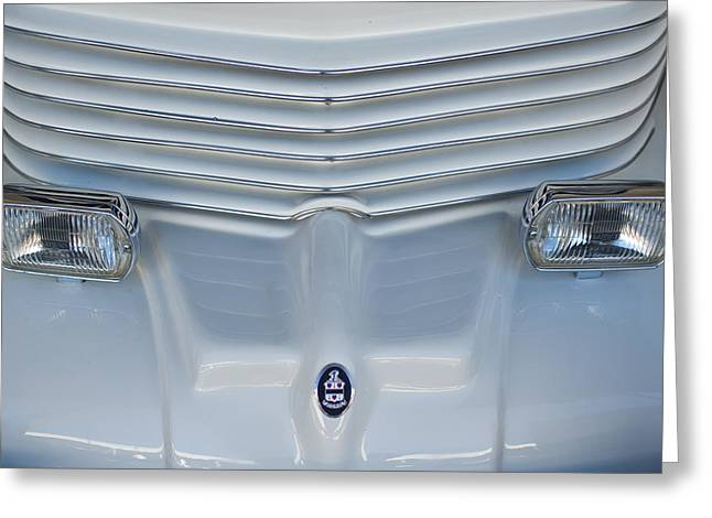 Car Mascot Greeting Cards - 1970 Cord Royale Grille Hood Ornament Greeting Card by Jill Reger