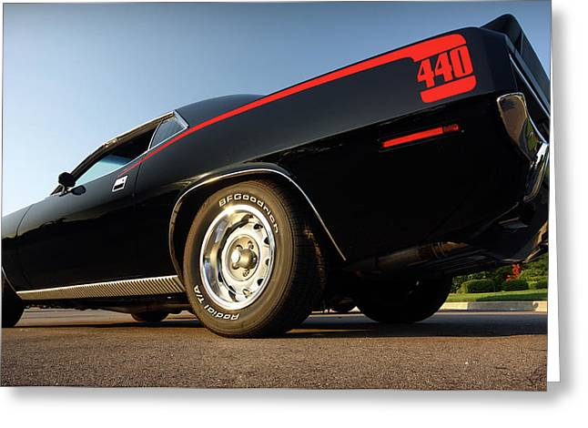 Stock Muscle Photos Greeting Cards - 1970 Plymouth 440 Cuda Greeting Card by Gordon Dean II