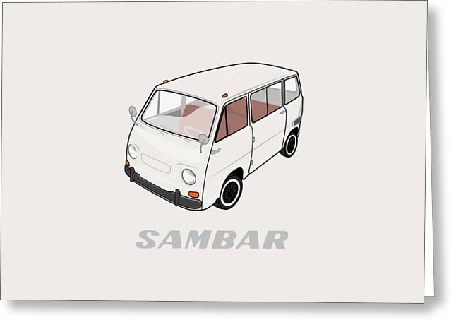 1970 Subaru Sambar Van Greeting Card by Ed Jackson