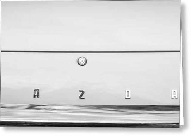 Mazda Greeting Cards - 1971 Mazda Cosmo Taillight Emblem -0733bw Greeting Card by Jill Reger