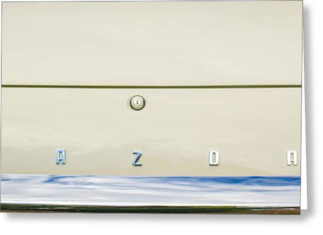 Mazda Greeting Cards - 1971 Mazda Cosmo Taillight Emblem -0733c Greeting Card by Jill Reger