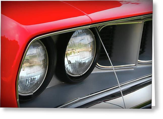 1971 Plymouth Barracuda Cuda Red  Greeting Card by Gordon Dean II