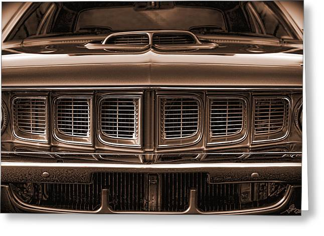 Gratiot Digital Greeting Cards - 1971 Plymouth Cuda 440 Greeting Card by Gordon Dean II