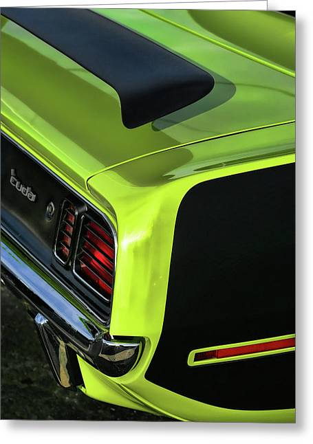 Gratiot Digital Greeting Cards - 1971 Plymouth Hemicuda Hemi Cuda Barracuda Greeting Card by Gordon Dean II