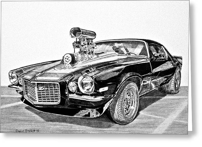 Daniel Storm Greeting Cards - 1973 Camaro Z28 Greeting Card by Daniel Storm