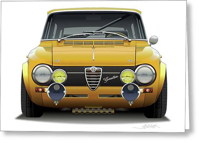 1974 Alfa Romeo Giulia Greeting Card by Alain Jamar