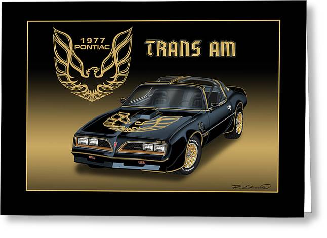 1977 Pontiac Trans Am Bandit Greeting Card by Rudy Edwards