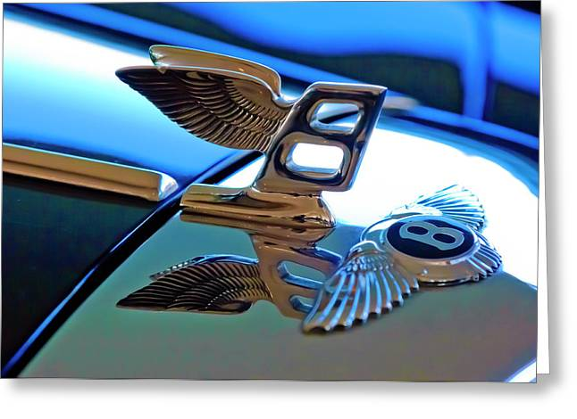 Hoodies Greeting Cards - 1980 Bentley Hood Ornament Greeting Card by Jill Reger