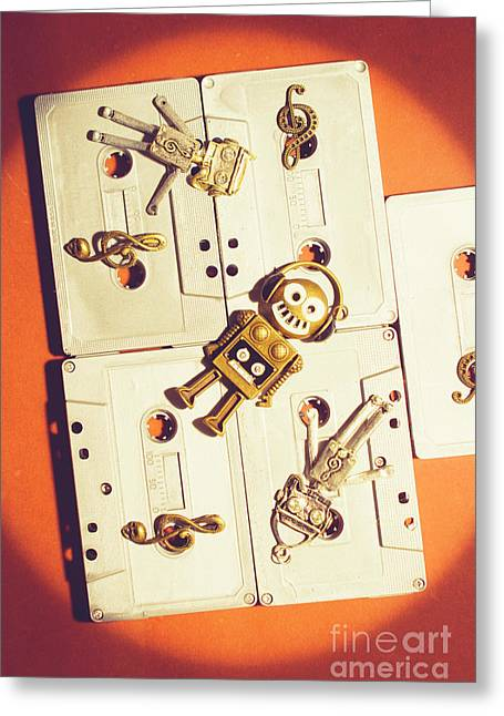1980s Robot Dancer Greeting Card by Jorgo Photography - Wall Art Gallery