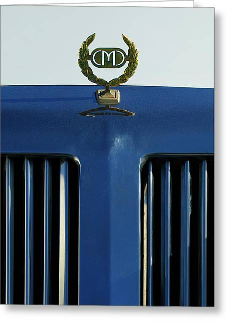 Hoodies Greeting Cards - 1985 Tiffany Coupe Hood Ornament Greeting Card by Jill Reger