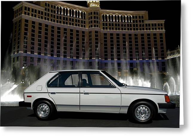 Teemack Greeting Cards - 1988 Dodge Omni Greeting Card by Tim McCullough